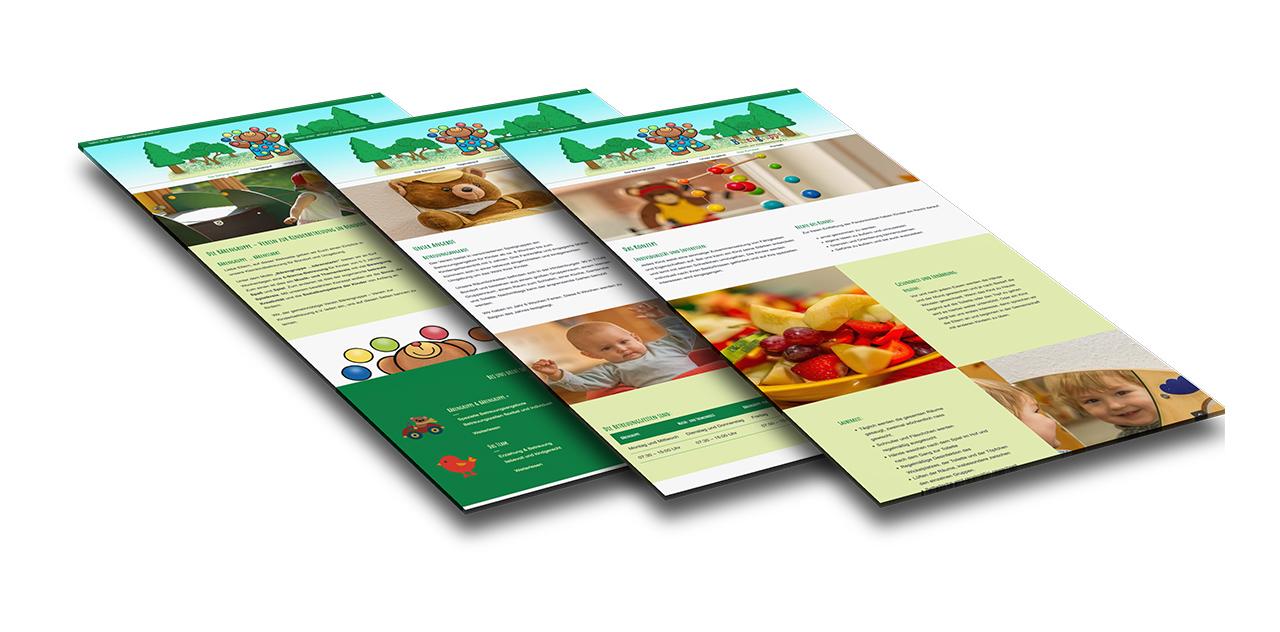 Portfolio Bärengruppe Verein zur Kinderbetreuung |Bondorf, Böblingen | Webseite